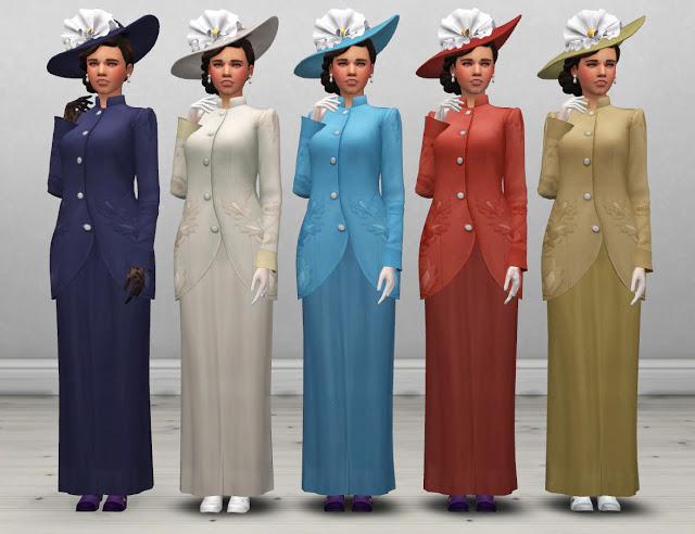 Edwardian Womens Coat and Hat at Historical Sims Life image 1436 Sims 4 Updates