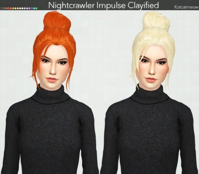 Sims 4 Nightcrawler Impulse Hair Clayified at KotCatMeow