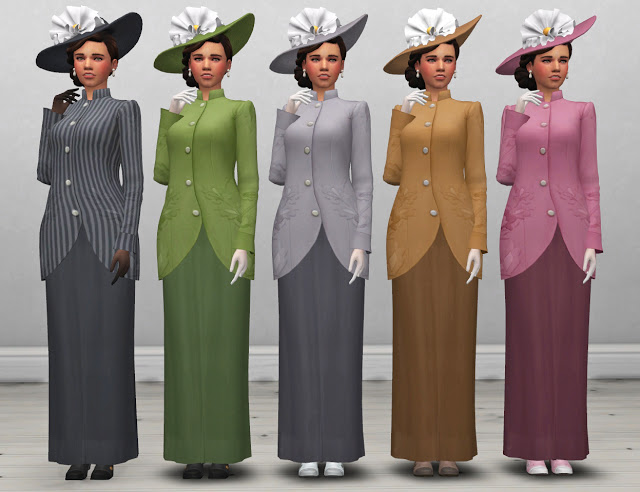 Edwardian Womens Coat and Hat at Historical Sims Life image 1445 Sims 4 Updates