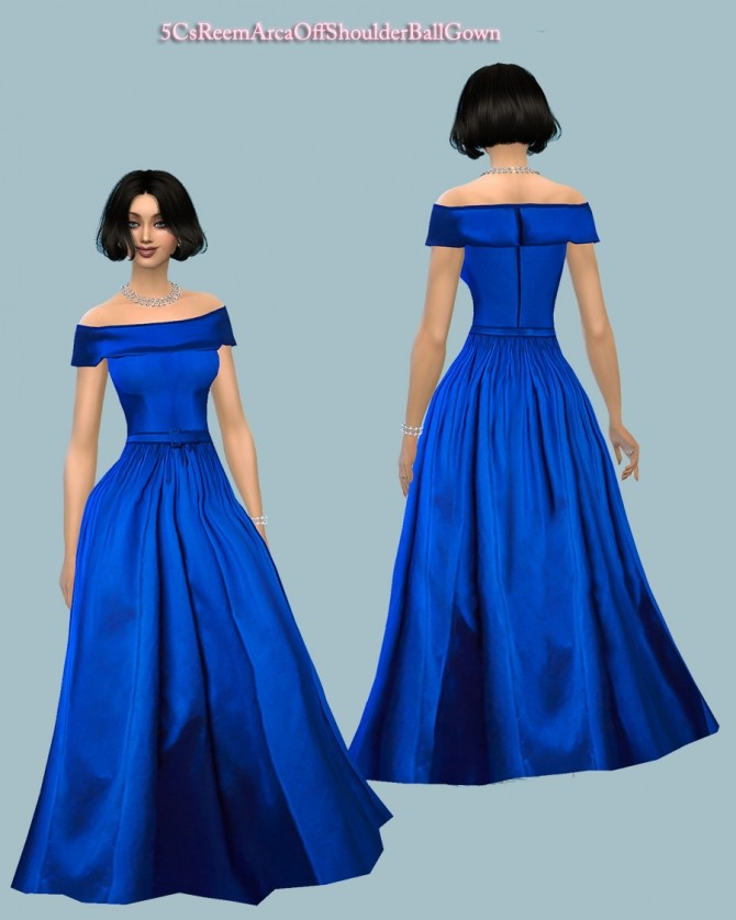 Sims 4 Arca OffShoulder Ball Gown at 5Cats