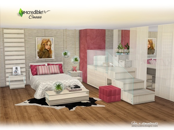 Sims 4 Cassis bedroom by SIMcredible at TSR