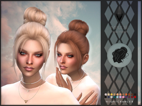 Impulse hair by Nightcrawler at TSR image 145 Sims 4 Updates