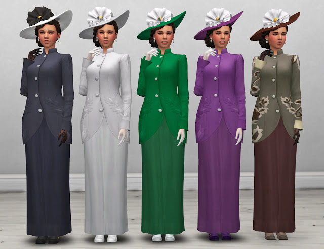 Edwardian Womens Coat and Hat at Historical Sims Life image 1455 Sims 4 Updates