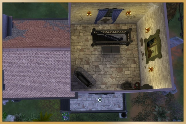 Sims 4 Abandoned Cemetery Vampire House by Schnattchen at Blacky's Sims Zoo
