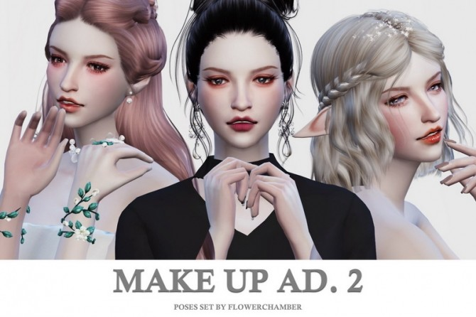 Make Up Ad. ver.2 Poses Set at Flower Chamber image 1461 670x446 Sims 4 Updates