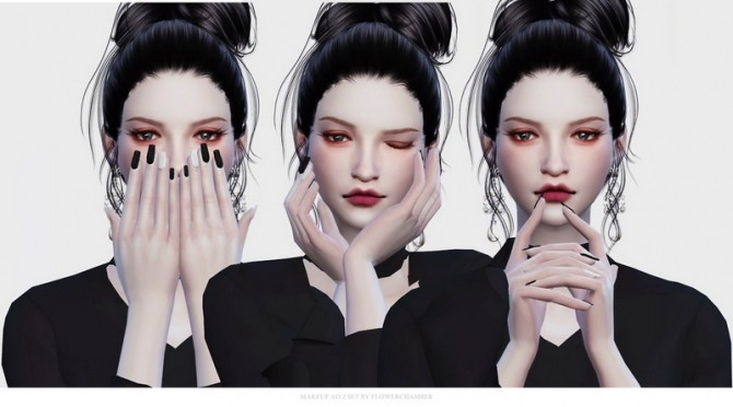 Make Up Ad. ver.2 Poses Set at Flower Chamber image 1501 670x372 Sims 4 Updates