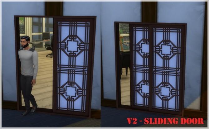 Asian paper sliding doors V2 by Mathcope at Sims 4 Studio image 1506 670x414 Sims 4 Updates