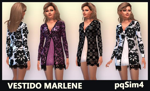 Sims 4 Marlene dress by Mary Jiménez at pqSims4