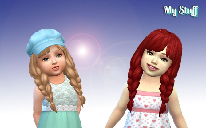 Spring Braids For Toddlers At My Stuff 187 Sims 4 Updates
