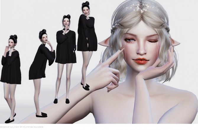 Make Up Ad. ver.2 Poses Set at Flower Chamber image 1512 670x443 Sims 4 Updates