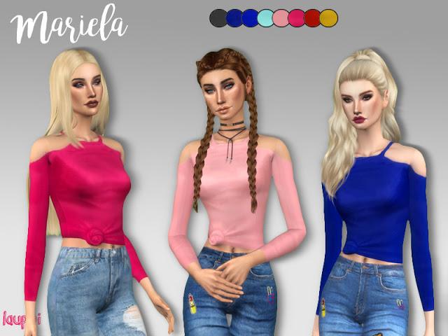 Sims 4 Mariela top at Laupipi