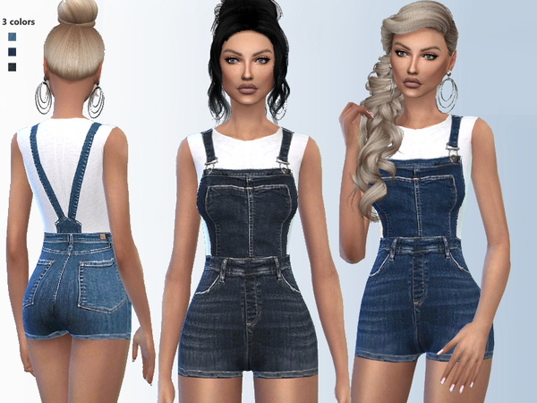 Sims 4 Denim Outfit by Puresim at TSR