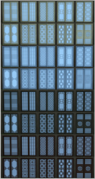 Asian paper sliding doors V2 by Mathcope at Sims 4 Studio image 1529 Sims 4 Updates
