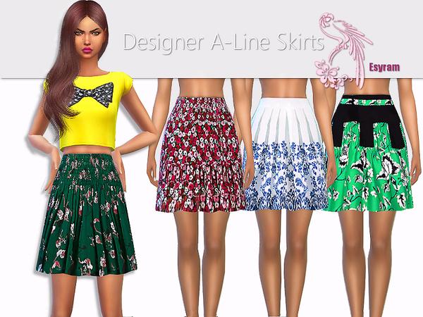 Sims 4 Designer A Line Skirts by EsyraM at TSR