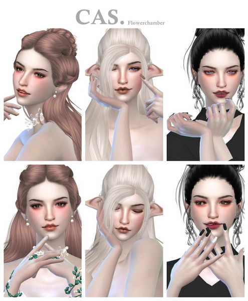 Make Up Ad. ver.2 Poses Set at Flower Chamber image 1561 Sims 4 Updates