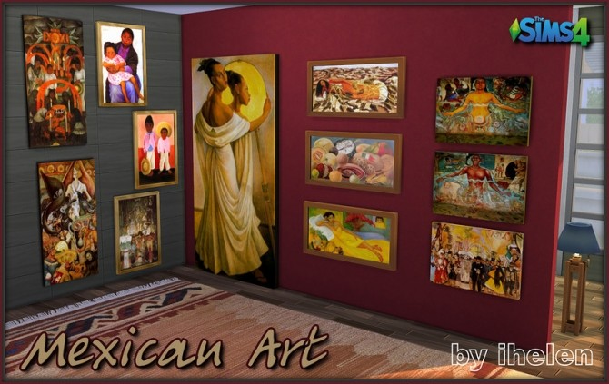 Sims 4 Mexican Art by ihelen at ihelensims