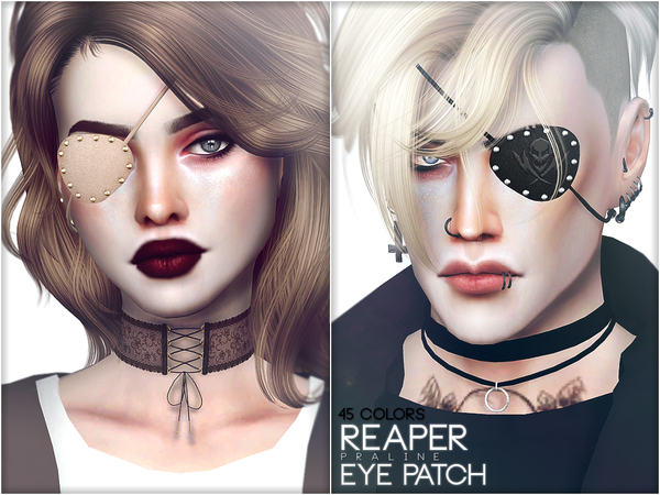 Reaper Eye Patch by Pralinesims at TSR image 1587 Sims 4 Updates