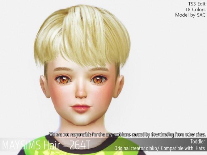 Sims 4 Hair 264T (Ginko) at May Sims