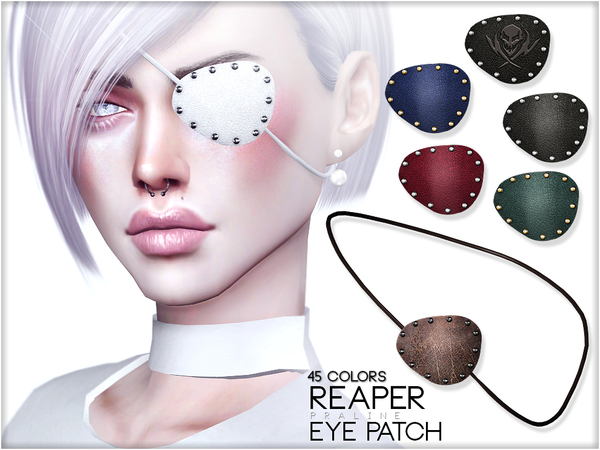 Reaper Eye Patch by Pralinesims at TSR image 1598 Sims 4 Updates