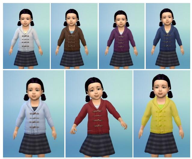 Sims 4 Wool Jacket & T Shirt Toddler at Birksches Sims Blog