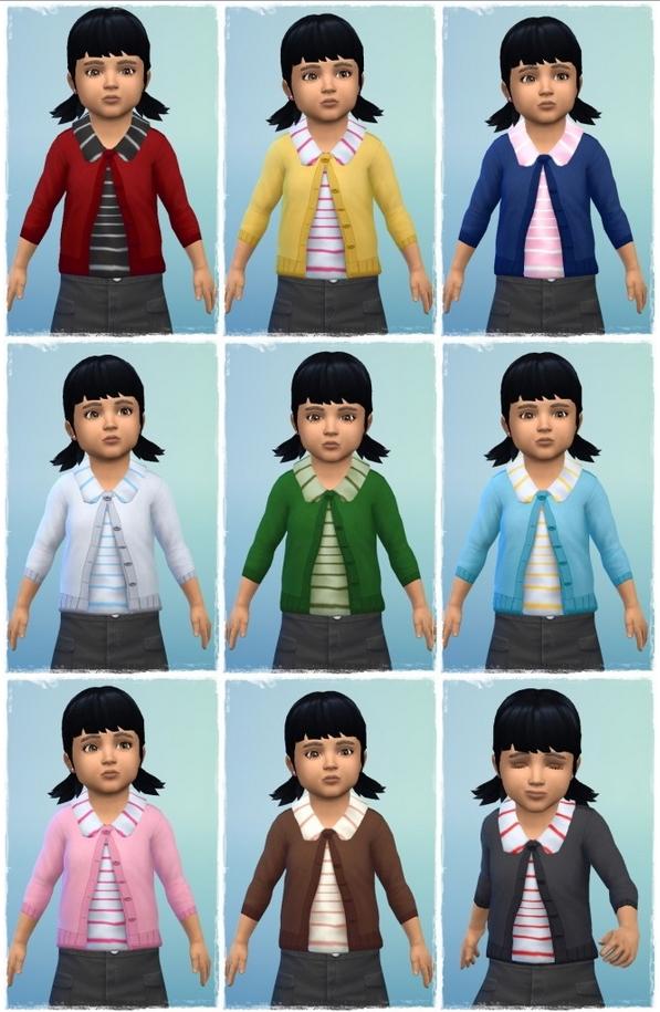 Collar Cardigan Toddler at Birksches Sims Blog image 16211 Sims 4 Updates