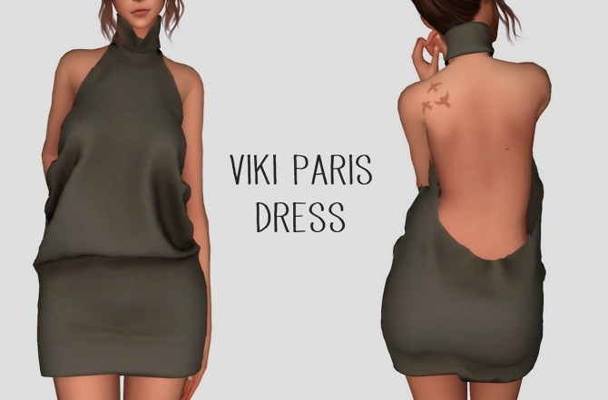Sims 4 Viki Paris Dress at Elliesimple