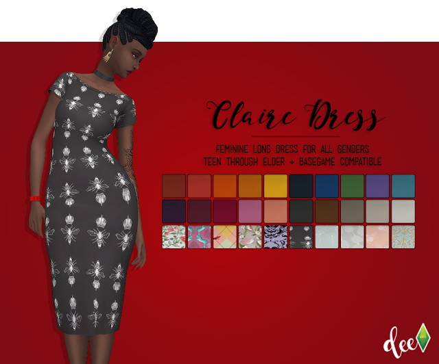 Claire Dress at Deetron Sims image 1633 Sims 4 Updates