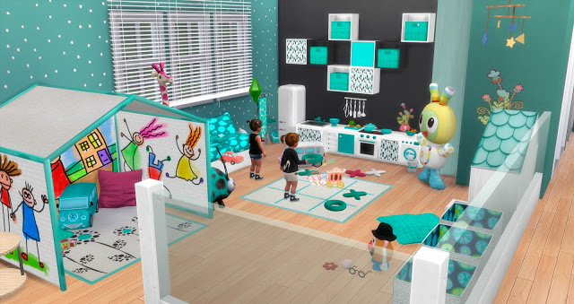 Sims 4 Pitusa game room final part by Mary Jiménez at pqSims4