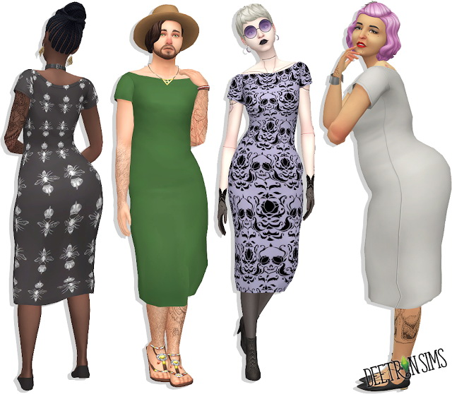 Claire Dress at Deetron Sims image 1643 Sims 4 Updates