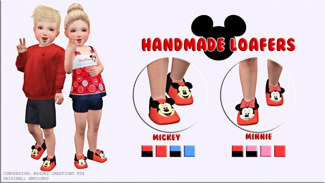 Handmade loafers Mickey and Minnie at Victor Miguel image 166 670x377 Sims 4 Updates