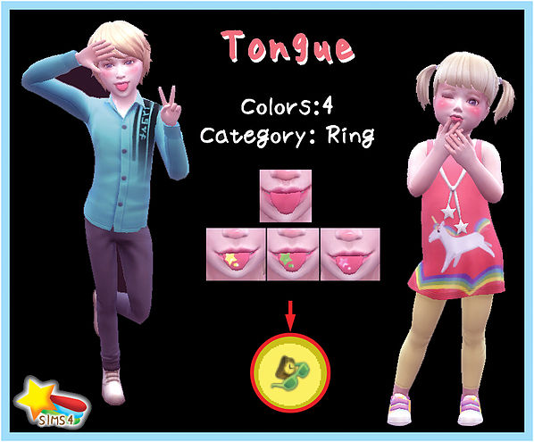 Sims 4 Tongue Child & Toddler at A luckyday