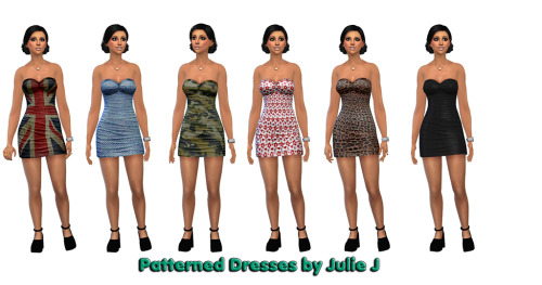 Sims 4 Patterned Base Game Dresses at Julietoon – Julie J