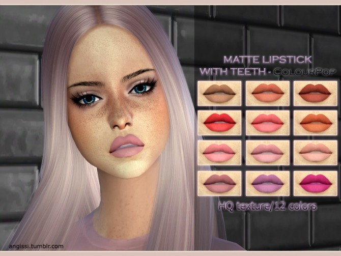 MATTE LIPSTICK WITH TEETH ColourPop at Angissi image 17111 670x503 Sims 4 Updates