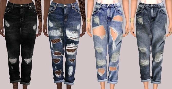 Simsimi Boyfriend Jeans at Lumy Sims » Sims 4 Updates