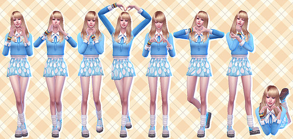 Sims 4 Heart Hand Pose 15 at A luckyday