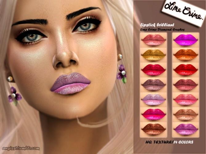 Lipstick brilliant Diamond Crushes at Angissi image 1762 670x503 Sims 4 Updates