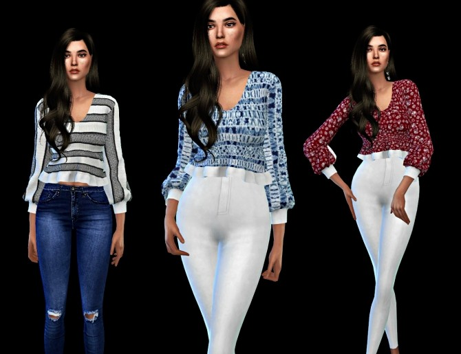 Bianca Top at Leo Sims image 179 670x515 Sims 4 Updates