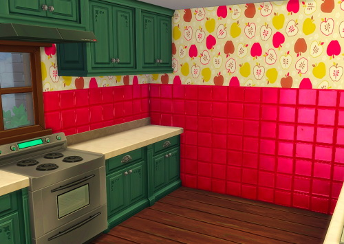 Sims 4 Apple Tiles at ChiLLis Sims