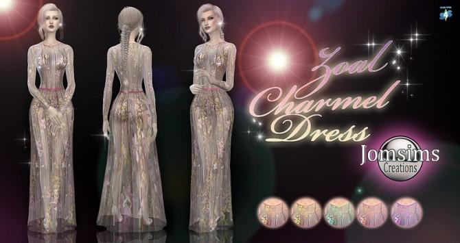 Sims 4 Zoal Charmel dress at Jomsims Creations