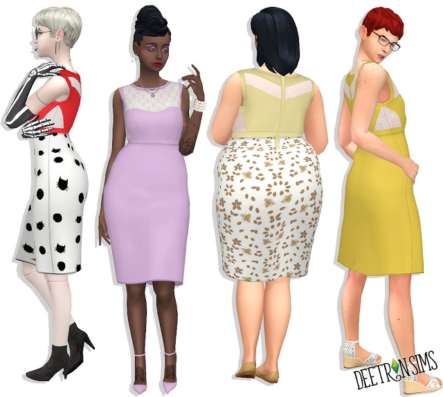 Sims 4 Longer Lemonade for Each Other Dress at Deetron Sims