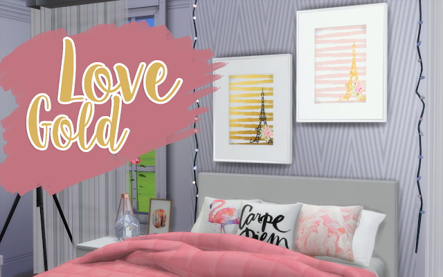 Love Gold Painting at Mony Sims image 1843 Sims 4 Updates