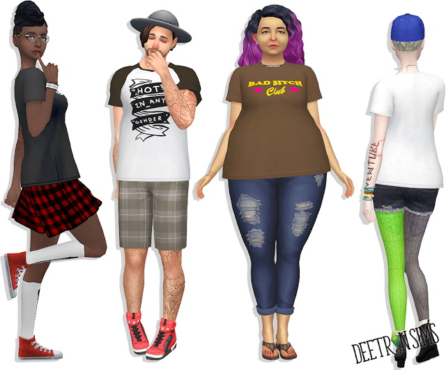 Sims 4 Baddie Tee at Deetron Sims
