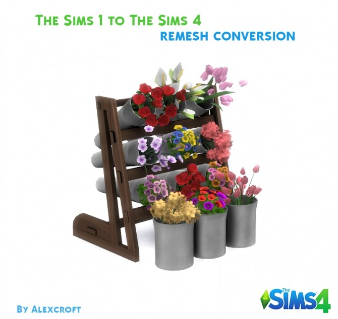Flower Display Conversion/Remesh by AlexCroft at Mod The Sims image 1864 670x634 Sims 4 Updates