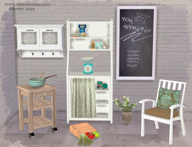 Set of furniture and decor by Granny Zaza at The Sims Models image 188 670x514 Sims 4 Updates
