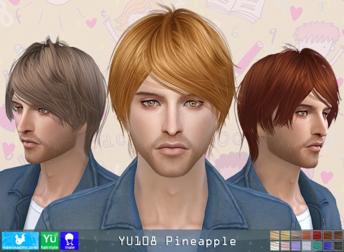 YU108 Pineapple hair M (Pay) at Newsea Sims 4 image 1883 670x491 Sims 4 Updates