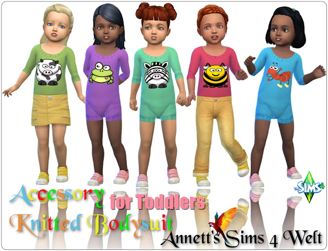Accessory Knitted Bodysuits for Toddlers at Annett's Sims 4 Welt image 1894 Sims 4 Updates