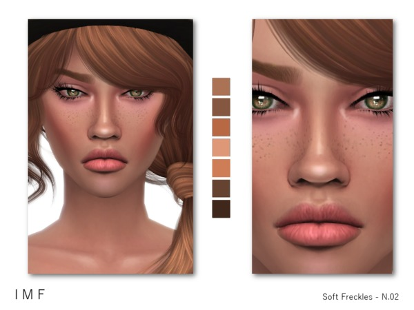 IMF Soft Freckles N 02 F M C by IzzieMcFire at TSR image 19 Sims 4 Updates