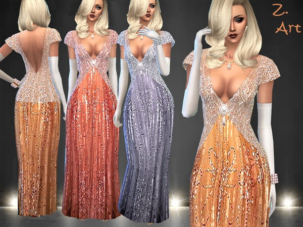 CharmZ 01 extravagant evening dress by Zuckerschnute20 at TSR image 191 Sims 4 Updates