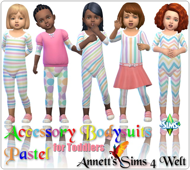 Sims 4 Acc Bodysuits Pastel for Toddlers at Annett's Sims 4 Welt