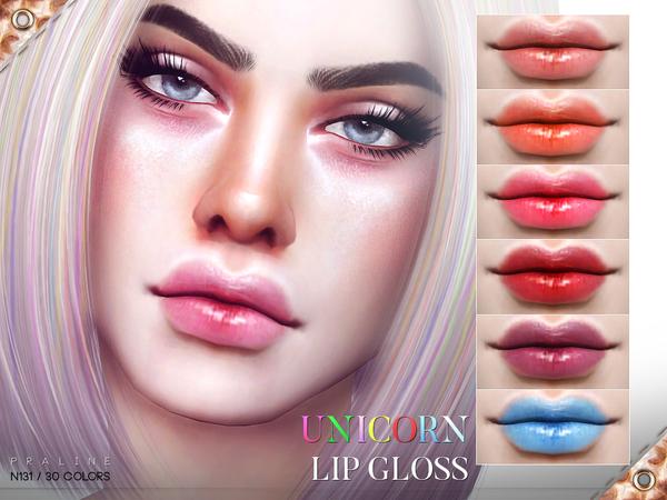 Unicorn Lip Gloss N131 by Pralinesims at TSR image 1930 Sims 4 Updates